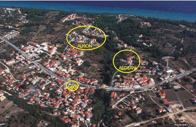 KRIOPIGI FROM THE PLANE .ALKION and AEGEAN HOTEL at KRIOPIGI for Rob