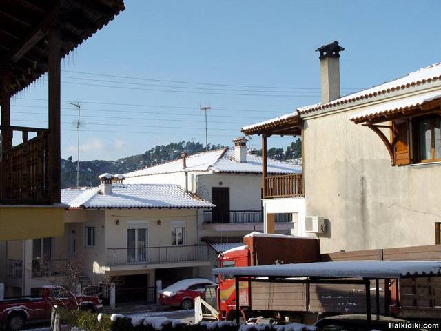 Agios Nikolaos with snow