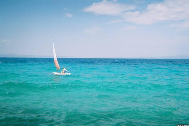 Sean Sailing at Palini Beach
