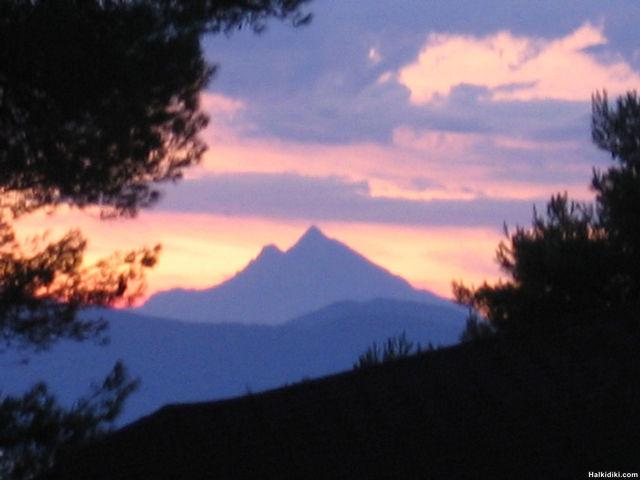 Mount Athos Sunset from Hanioti