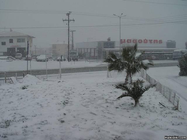 Snow in Halkidiki