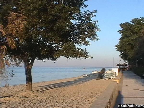 Hanioti seafront may 2006