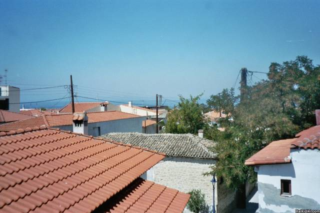 view from balcony, villa vatalis pefkohori