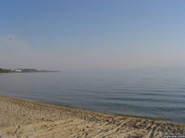 Kriopigi Beach in the morning, July 8 2006