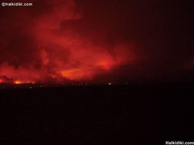 Fire in Hanioti, Halkidiki