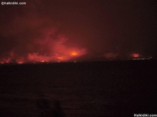 Fire in Kassandra, Halkidiki