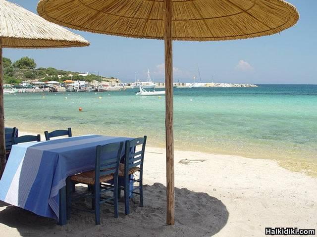 On the beach of Ormos Panagias