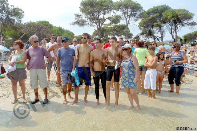 Swim around Diaporos island