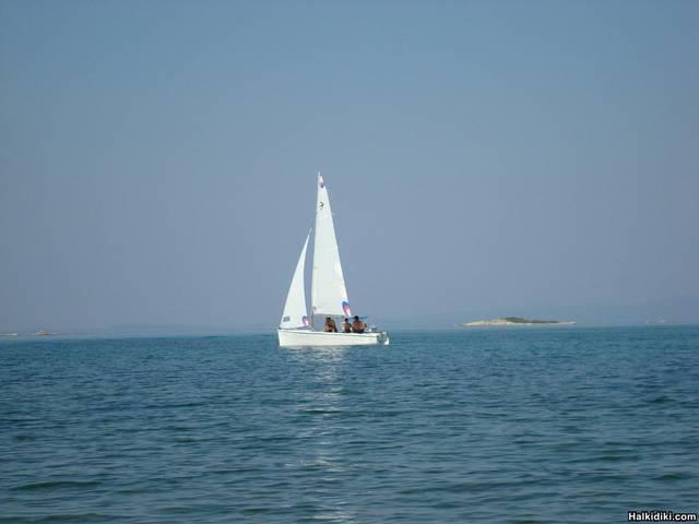 Sailling in Vourvourou