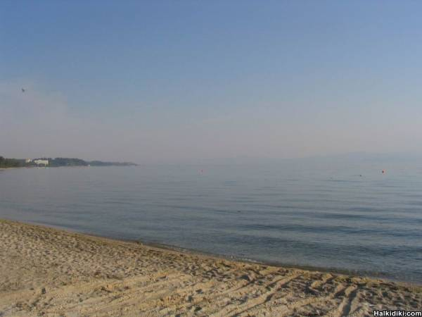 Kriopigi Beach in the morning, July 8 2006