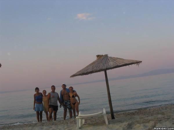 Kriopigi Beach, evening melancholy before leaving.... (July 15, 2006)