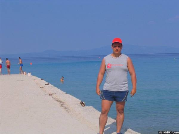 Yours truly at the beach in Kallithea