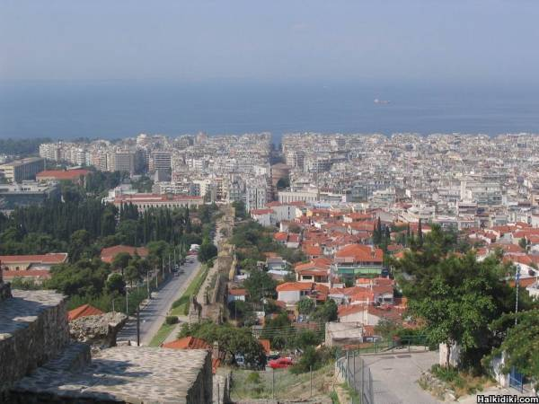 View from the top of the city, Thessaloniki