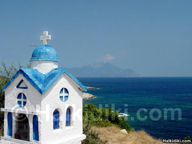 Sarti, view to Mount Athos