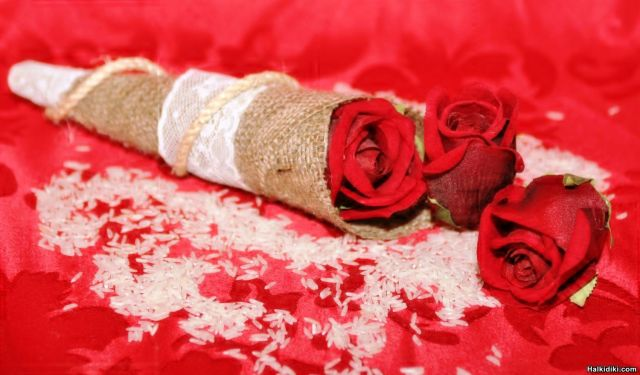 Elegant  wedding cone